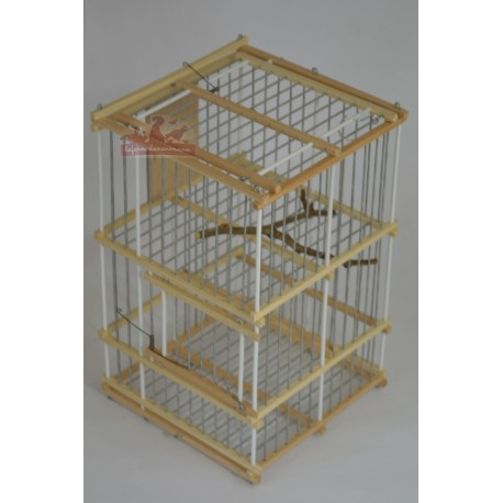 Trébuchet avec cage appelant oiseaux