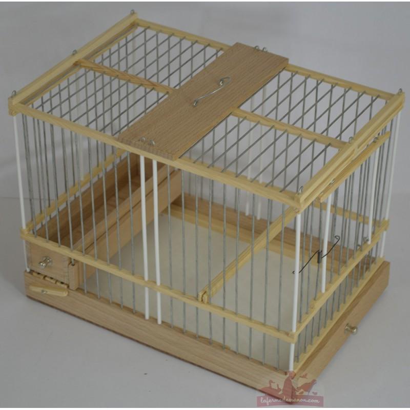Cage de chant en bois pour les canaris chardonneret - Cage a oiseaux en bois deco ...