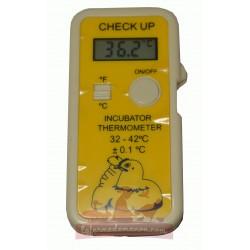 Thermomètre digital jaune avec sonde pour couveuse