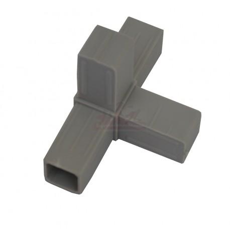 "Raccord ""4 Directions"" pour tube aluminium"