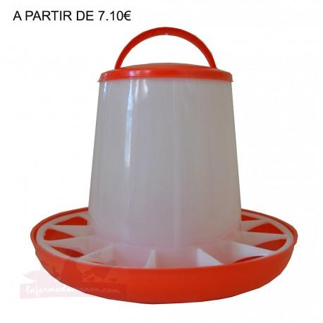 Mangeoire plastique 6kg avec couvercle ECO