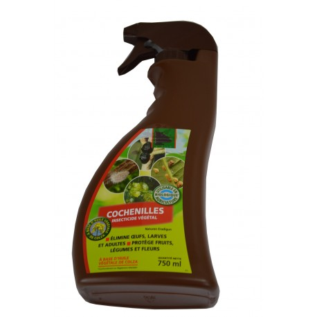 Cochenilles, insecticide végétal - Spray de 750ml