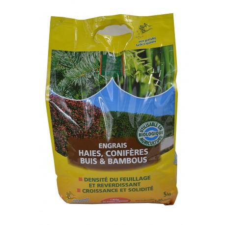 Engrais haies, conifères, buis et bambous - Sac de 5kg