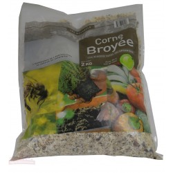 Corne Broyée, engrais naturel - Sac de 2kg