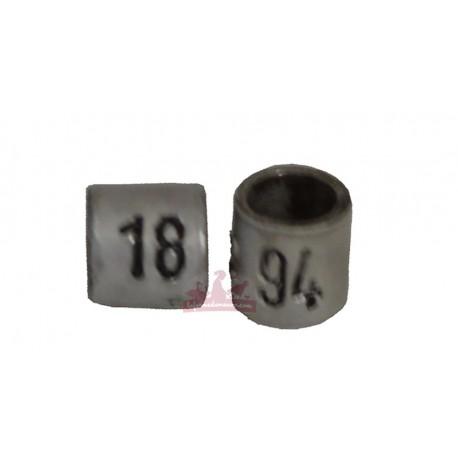 Bague métal fermée numérotée 3mm canaris 2018