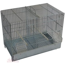 Cage canaris d'élevage MINI - galva 42cm