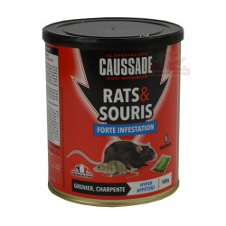 "Raticide - souricide, Céréales ""Forte infestation"" - 150g"