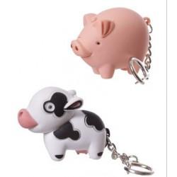 Porte-clé LED - vache ou cochon