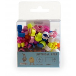 Bagues à clip 6mm - 10 couleurs - lot de 100