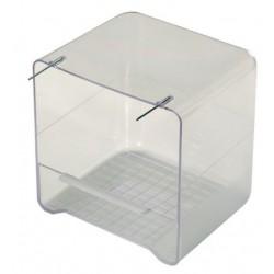 Baignoire canaris fermée transparente
