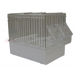 Cage de chant pour oiseaux, blanche