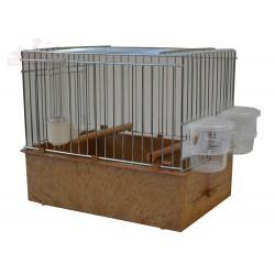 Cage de chant pour oiseaux, marron