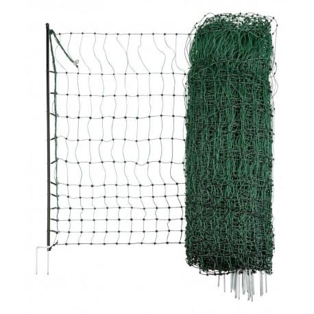 Filet-clôture volaille électrifiable 50M double pointes