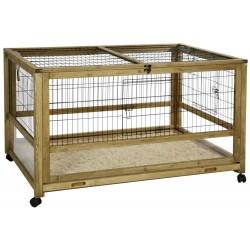 Clapier / cage d'interieur avec roulette