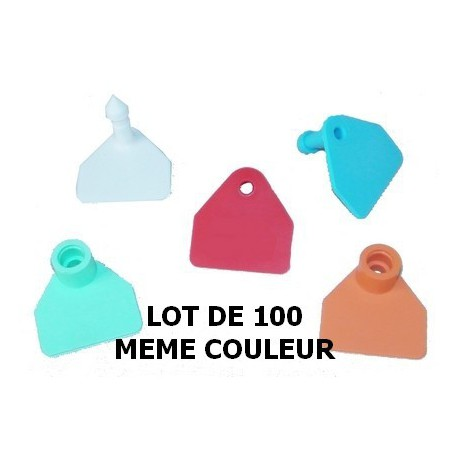 Boucle d'identification vierge ovin/caprin - Lot de 100