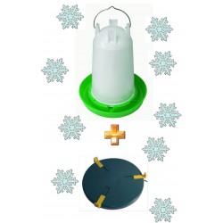 Kit abreuvoir 3L + chauffe-abreuvoir 20cm