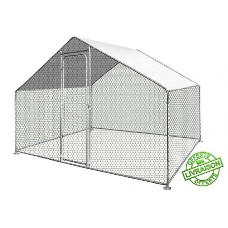 Enclos poule 2,20m x 1,40m - Surface 3m²