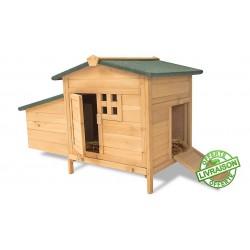 poulailler lounge en bois 1er prix