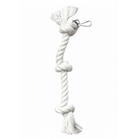 """Jouet """"Corde perroquet 3 noeuds"""" pour becs crochus"""