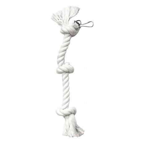 """Jouet  """"Corde perroquet 6 noeuds"""" pour becs crochus"""