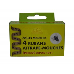 Ruban attrape-mouche collant - Lot de 4