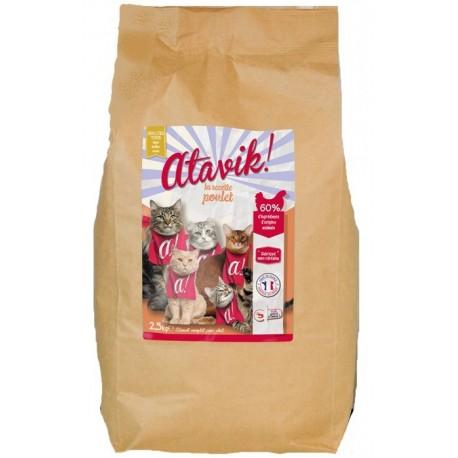 Croquettes chat adulte poulet sans céréales - 2.5kg
