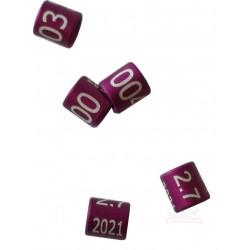 Bague oiseau métal violet fermée, numérotée, 2.7mm, 2021