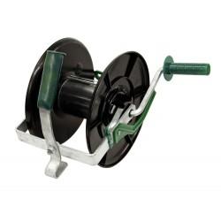 Enrouleur clôture avec frein et système d'accroche