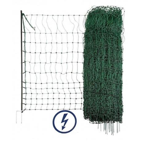 Filet-Clôture volaille 50m, double pointes - Hauteur 112cm
