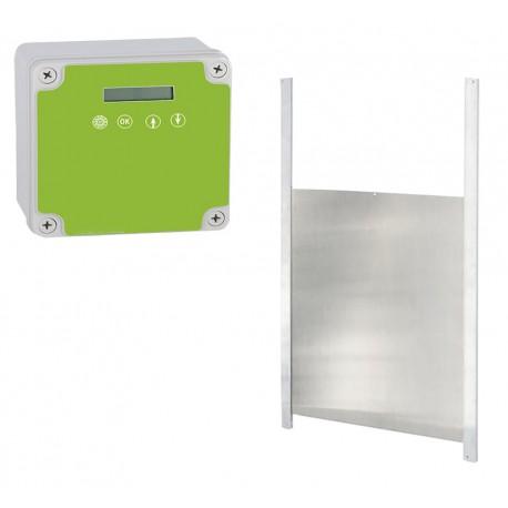 Portier automatique pour poulailler avec porte 43x40cm